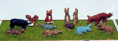 O Scale Unpainted Model Kit 1:43 English Wild Animals Deer Badger Rabbit,Fox L22