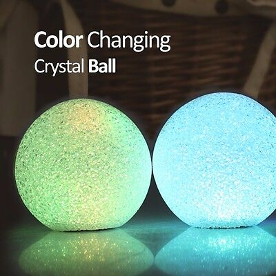 Color Changing Crystal Ball LED Nightlight Home Decoration Novelty Gift Party