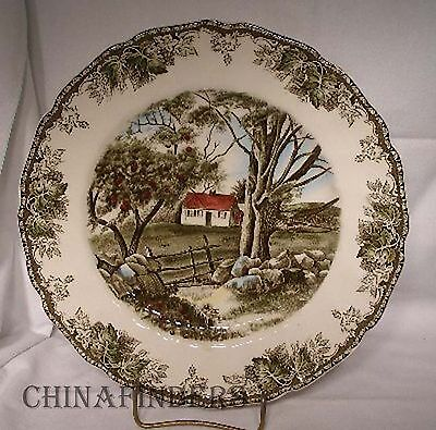 JOHNSON Brothers FRIENDLY VILLAGE Large Dinner Plate - Stone Wall - 10-1/2""