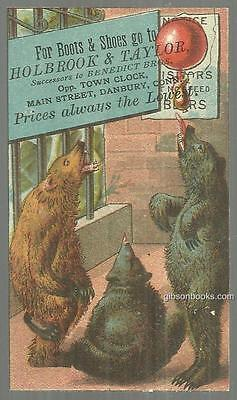 Victorian Trade Holbrook and Taylor Boots and Shoes with Performing Bears