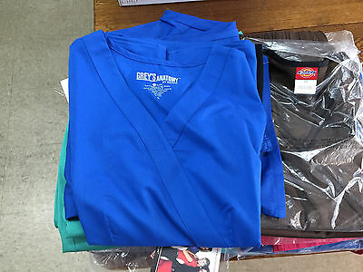Womens Scrubs Lot Mixed Sizes and Colors 15 tops 15 pants new Grey's Anatomy