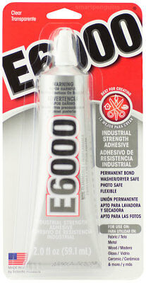 E6000 Industrial Strength Adhesive Permanent Bond Photo Safe Flexible Clear Glue
