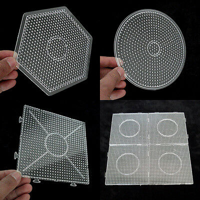 Large Pegboards for Perler Bead / Hama Fuse Beads Clear Square Design Board HOT