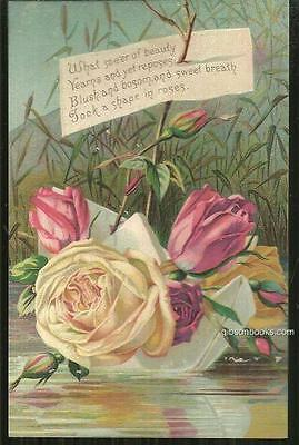 Victorian Trade Card for Acme Soap,  Lautz Bros with Roses and Poem