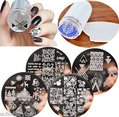 Nail Art Stamping Template Image Plate with Stamper&Scraper Tools BORN PRETTY