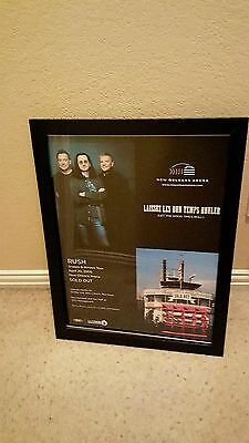 Rush Rare Original New Orleans Arena Sold Out 2008 Concert Promo Poster Framed!