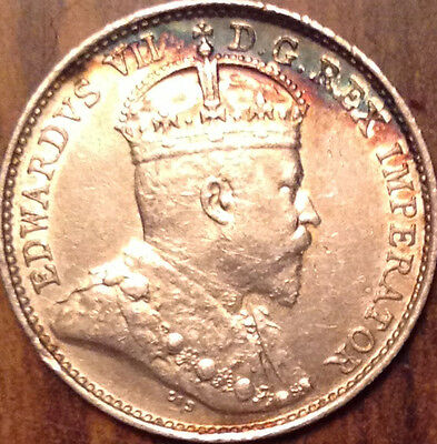 1909 R-Leaves Canada 5 Cents Key Date Coin In Best Of Circulated Condition !!