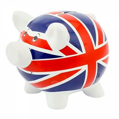 Money Pig ~ Fund/Savings/Piggy Bank ~ Ceramic  ~ UNION JACK