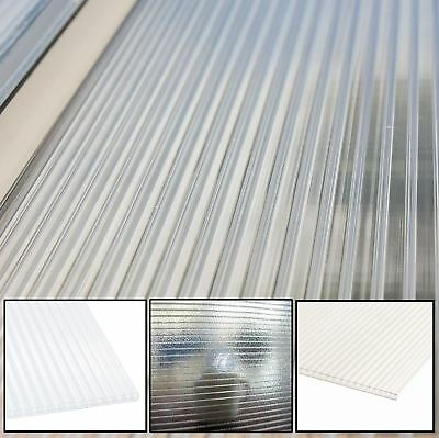 4mm & 10mm Polycarbonate Roofing Sheets for GreenHouse etc, Clear, Opal, Frosted