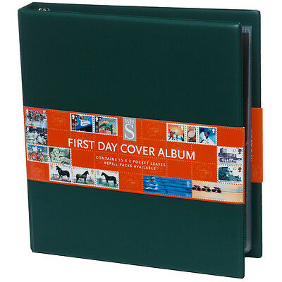WHSmith Assorted Colour First Day Cover Stamp Album Ring Bound Double Sided