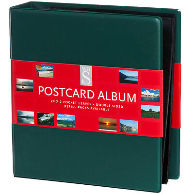 WHSmith Assorted Colour Postcard Album Ring Bound With 20 Double Sided Leaves