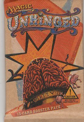MTG Magic the Gathering  Unhinged   2 booster packs