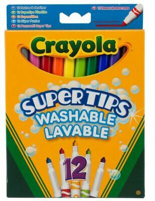 Crayola Supertips Washable Colouring Pens Mixed Colours For Ages 3+ Pack Of 12