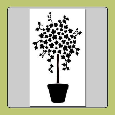 7 X 12 Ivy Tree Topiary STENCIL Potted Plant/Ivy Bush/Vines/Leaves/Garden/Decor