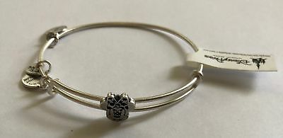 Disney Parks Minnie Slider Bracelet Bangle Alex & Ani Silver Finish New With Tag