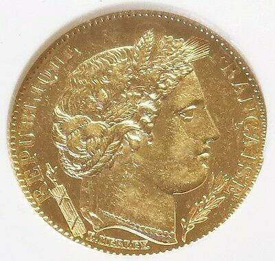 1896 A Gold France 10 Francs Ceres Coin Ngc About Uncirculated 58
