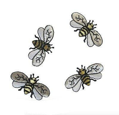 "#4132 Lot 6Pcs 1-5/8"" Embroidery Iron On Bee Applique Patch"