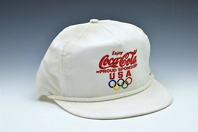 Vintage Coca Cola USA Olympics White Hat New with Tag 1992