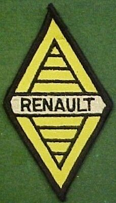 Renault Automobile Merrowed Border on Yellow Twill Patch