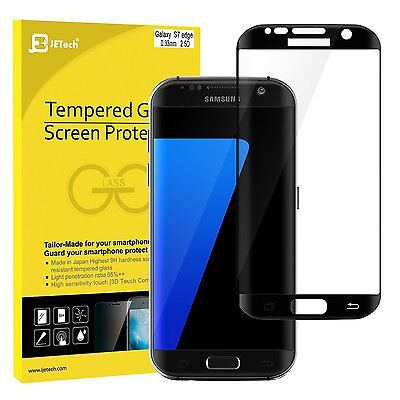 JETech 0927 Samsung Galaxy S7 edge Screen Protector Full Cover Tempered Glass