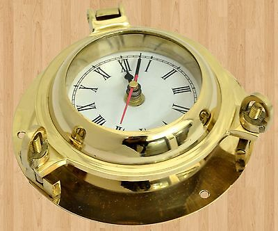 Port Ship Boat Brass With Clock Bronze Deck Plate Hatch Cover Porthole