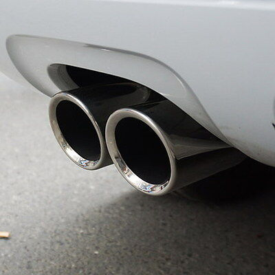 STAINLESS STEEL CAR REAR EXHAUST TIP PIPE TAIL REAR MUFFLER STRAIGHT FINISHER #p