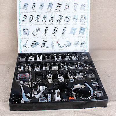 32xDomestic Sewing Machine Presser Foot Feet Set For Brother Singer 235x200x27mm