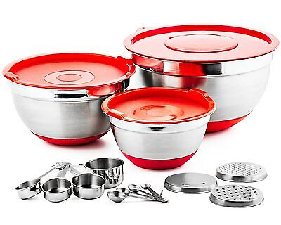 Chef's Star Professional 17 Piece Stainless Steel Mixing Bowl Set (CSMBS17) BOL