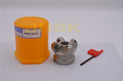 KM12 50-22-4F indexable face milling cutter 50mm Bore 22mm 45 Degree FOR SEHT12