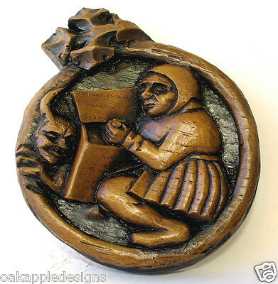 Medieval Devil Reproduction Cathedral Carving Gothic Gift Ornament Wall Plaque