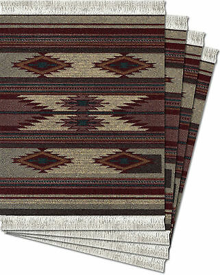 Mouserug Mouse Pad Earthtone Southwest New Oriental Rug Indian Flatweave Rugs