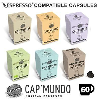 60x Cap' Mundo Artisan Nespresso Compatible Capsules Six Blend Variety Pack