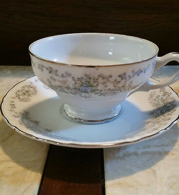 """Norleans Brand """"Theresa"""" Fine China Cup and Saucer (made in Japan)"""
