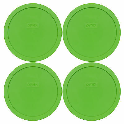 Pyrex 7402-PC 4PK Green Plastic Round 6/7 Cup Storage Lid Cover for Glass Bowl