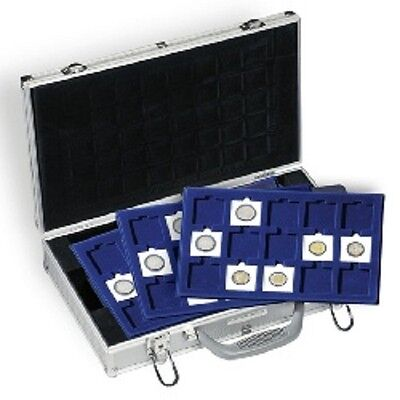 Lighthouse Small Aluminum Coin Case With 6 2X2 Trays Holds 90 2X2 Holders
