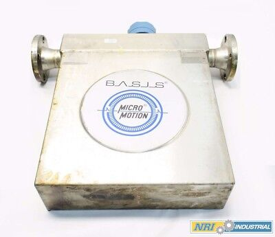 Micro Motion F200Sr418Sc Basis 2 In 150 Flanged Mass Flow Sensor D529609