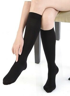 20-30mmHg FDA Approved (sz: MED) Graduated Compression Stockings Socks Black