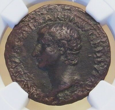 Ad 22/3 Roman Empire Drusus Under Tiberius Ae As Coin Ngc Very Fine