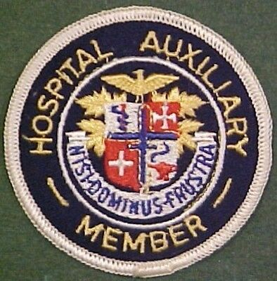 Hospital Auxiliary Member on Blue Twill Patch