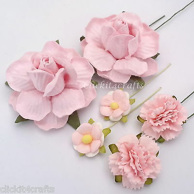 5,000 Mulberry Paper Flowers Carnation Roses Wedding Scrapbook 5KZM3
