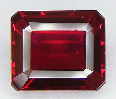 30% DE REDUCTION 12,54CT. RUBIS SANG DE PIGEON DE SYNTHESE T. EMERAUDE 14x12 MM.