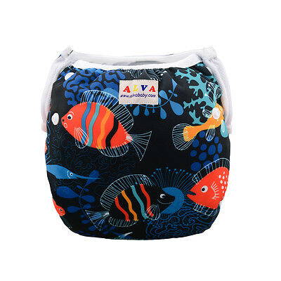 Alva Swim Diaper Washable Reusable breathable Pool pant with snaps 10-40lbs