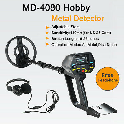 "Waterproof Metal Detector Deep Sensitive Search Gold Digger Hunter 6.5"" Coil"