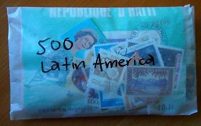 Latin America - 500 Mixed Stamps-Used Off Paper
