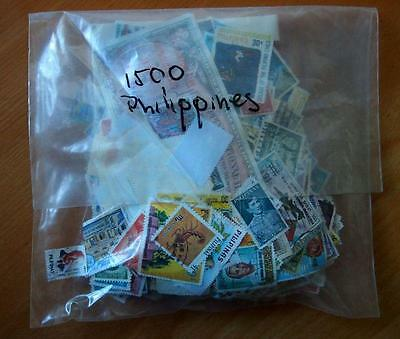 Philippines - 1500 Mixed Stamps-Used Off Paper