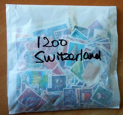 Switzerland - 1200 Mixed Stamps-Used Off Paper