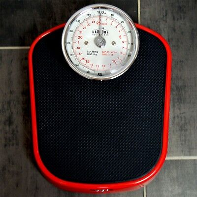 Traditional Red Mechanical Bathroom Weighing Scales - 25st (160kg)