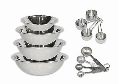 2dayShip Stainless Steel Mixing Bowls 1.5, 3, 4, and 5 Quart [Set of 6]  BOL