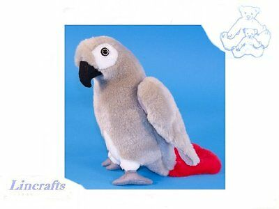 African Grey Parrot Plush Soft Toy Bird by Dowman Soft Touch.23cm RB716
