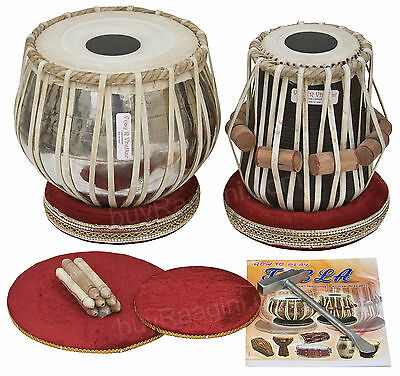 Tabla Set|Vhatkar|Professional 2½Kg Chrome Brass Bayan|Shesham Dayan|Bbe